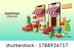 online shopping  online store ...   Shutterstock .eps vector #1788926717