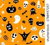 seamless happy halloween...   Shutterstock .eps vector #1788957257