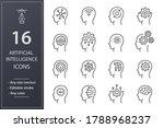 artificial intelligence line... | Shutterstock .eps vector #1788968237