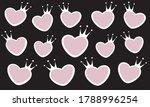 vector abstract fancy girly... | Shutterstock .eps vector #1788996254