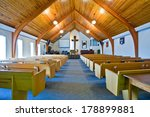 The Interior Of A Simple Churc...