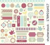 scrapbook design element. set... | Shutterstock .eps vector #1789016417