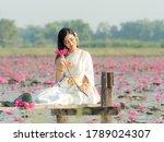 An Elegant Thai Woman Wearing...