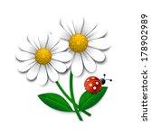vector flowers with ladybug ... | Shutterstock .eps vector #178902989