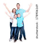 young happy family with... | Shutterstock . vector #178906169