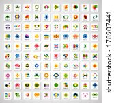unusual icons set   isolated on ... | Shutterstock .eps vector #178907441