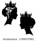 elegant queen and princess...   Shutterstock .eps vector #1789079981