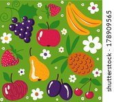 "seamless pattern ""summer fruits""... 