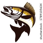 walleye zander fish logo....   Shutterstock .eps vector #1789105634