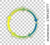 circular arrows sign. blue to... | Shutterstock .eps vector #1789130777
