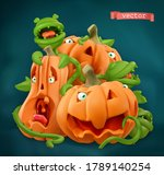 halloween. pumpkin cartoon... | Shutterstock .eps vector #1789140254