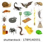 pest insects  bugs and animals... | Shutterstock .eps vector #1789140551