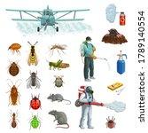 pest control cartoon vector set ... | Shutterstock .eps vector #1789140554