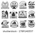blacksmith  metal or iron work...   Shutterstock .eps vector #1789140557