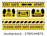 stay safe 1.5 meters apart.... | Shutterstock .eps vector #1789144874