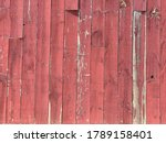 Red Broude Side Of A Barn. With ...