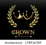 golden crown  vector   Shutterstock .eps vector #178916789