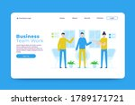 business team work landing page ...