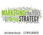 word cloud with marketing... | Shutterstock . vector #178918805