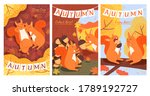 Set Of Autumn Illustration Wit...