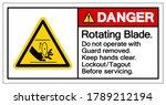 danger rotating blade symbol... | Shutterstock .eps vector #1789212194