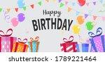 happy birthday balloons...   Shutterstock .eps vector #1789221464