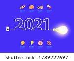 creative light bulb idea with... | Shutterstock .eps vector #1789222697