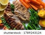 Close Up View Of Chicken Steak...