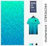 turquoise gradient geometry... | Shutterstock .eps vector #1789261364