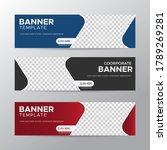 set of three vector abstract... | Shutterstock .eps vector #1789269281