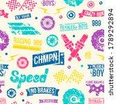 car races seamless pattern.... | Shutterstock .eps vector #1789292894