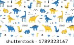 childish seamless pattern with... | Shutterstock .eps vector #1789323167