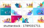 landing page template with... | Shutterstock .eps vector #1789331711