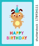 puppy birthday | Shutterstock .eps vector #178934111