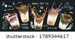 bubble milk tea design... | Shutterstock .eps vector #1789344617