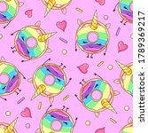 seamless pattern with funny...   Shutterstock .eps vector #1789369217