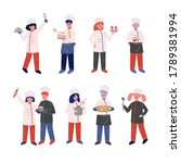 professional chef characters... | Shutterstock .eps vector #1789381994