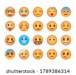bundle of emojis faces set...   Shutterstock .eps vector #1789386314