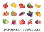 bundle of fresh fruits set... | Shutterstock .eps vector #1789386551