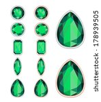 set of five forms of emerald... | Shutterstock .eps vector #178939505