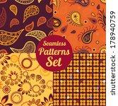 set of 4 seamless pattern.... | Shutterstock .eps vector #178940759