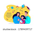 happy family together prepare... | Shutterstock .eps vector #1789439717