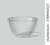 transparent glass bowl on...   Shutterstock .eps vector #1789446527