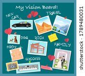 vision board  collage with...   Shutterstock .eps vector #1789480031