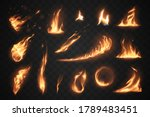 set of fire flames elements on... | Shutterstock .eps vector #1789483451