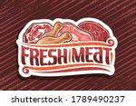vector logo for fresh meat ... | Shutterstock .eps vector #1789490237