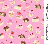 vector seamless pattern with... | Shutterstock .eps vector #1789493837