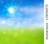 bright spring background | Shutterstock .eps vector #178950575