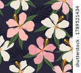 tropical flowers and artistic... | Shutterstock .eps vector #1789521434