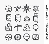 different transport icons set... | Shutterstock .eps vector #178953395